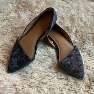 A New Day Blue Velvet Flat Shoes Size 9